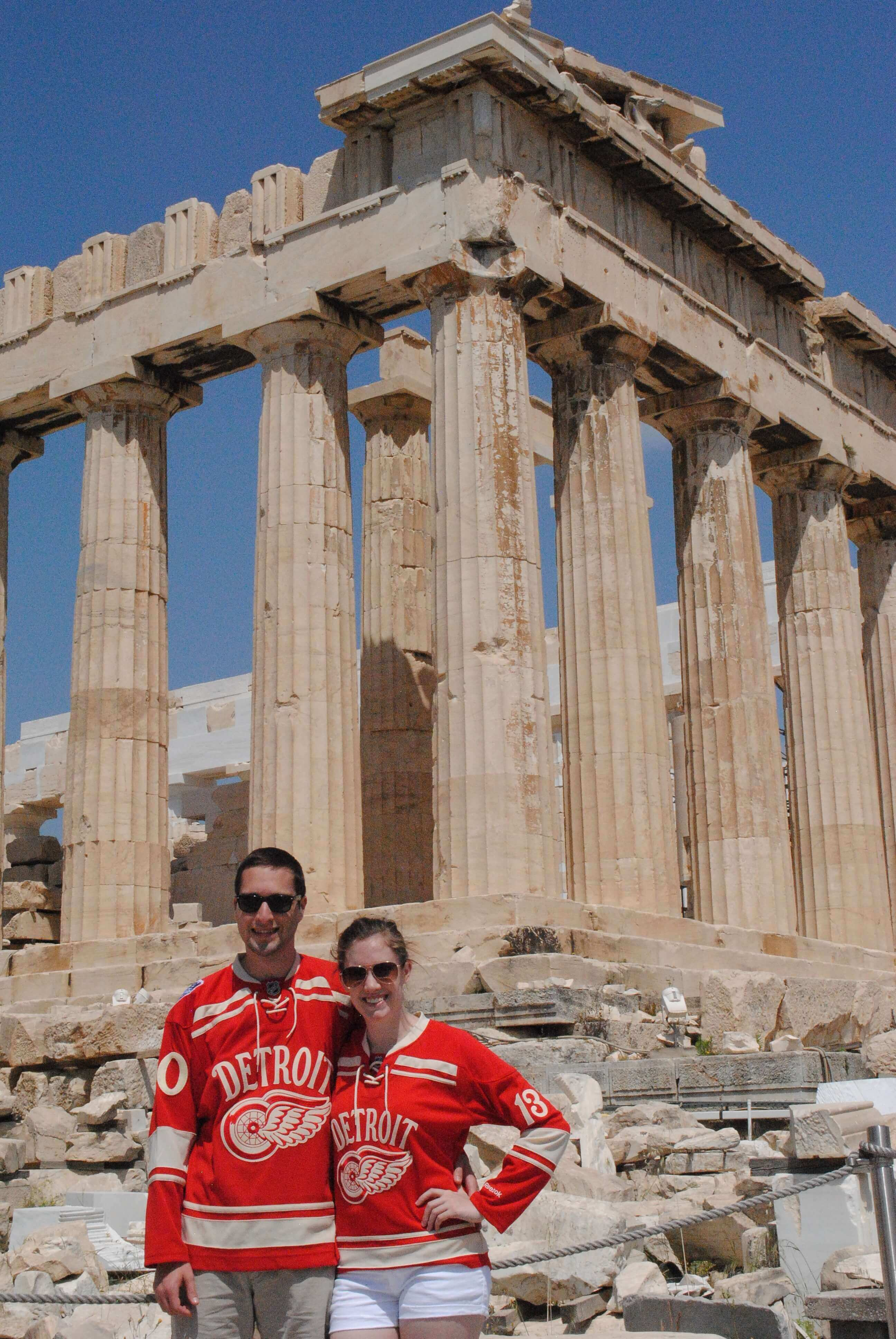 The Non-Scaffolding Side of the Parthenon! Yes, we will be submitting this photo for Red Wings Fan of the Day.