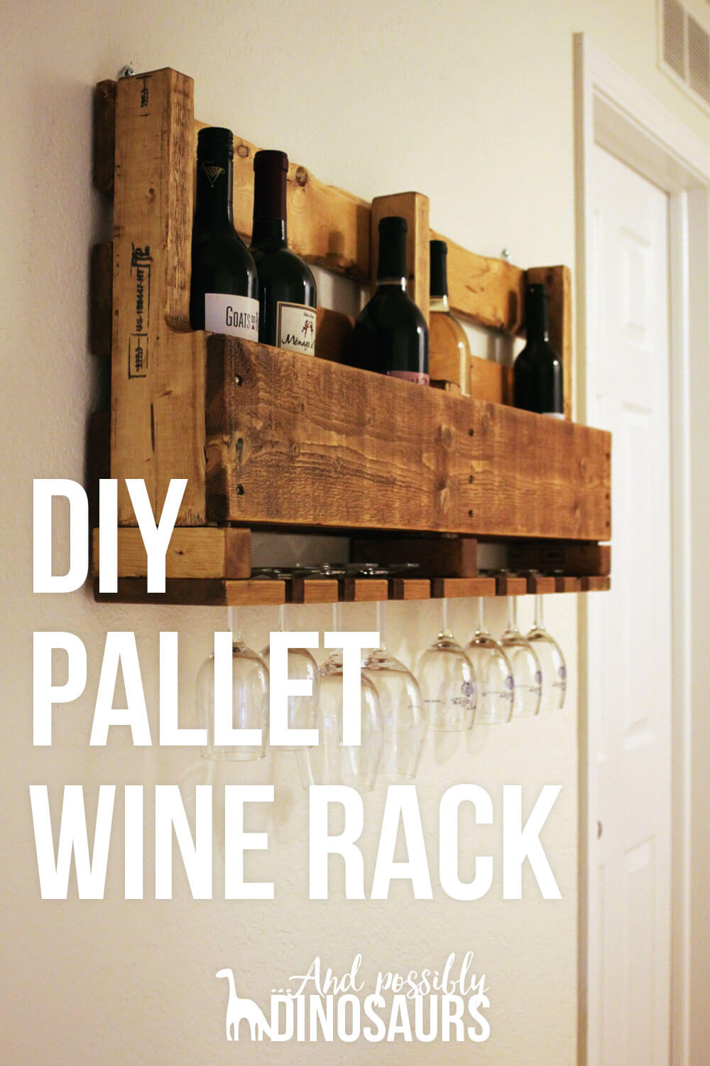 DIY Wine Rack From A Pallet And Possibly Dinosaurs
