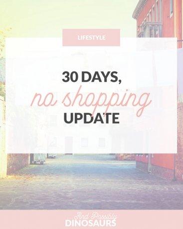 30 Days, No Shopping Update