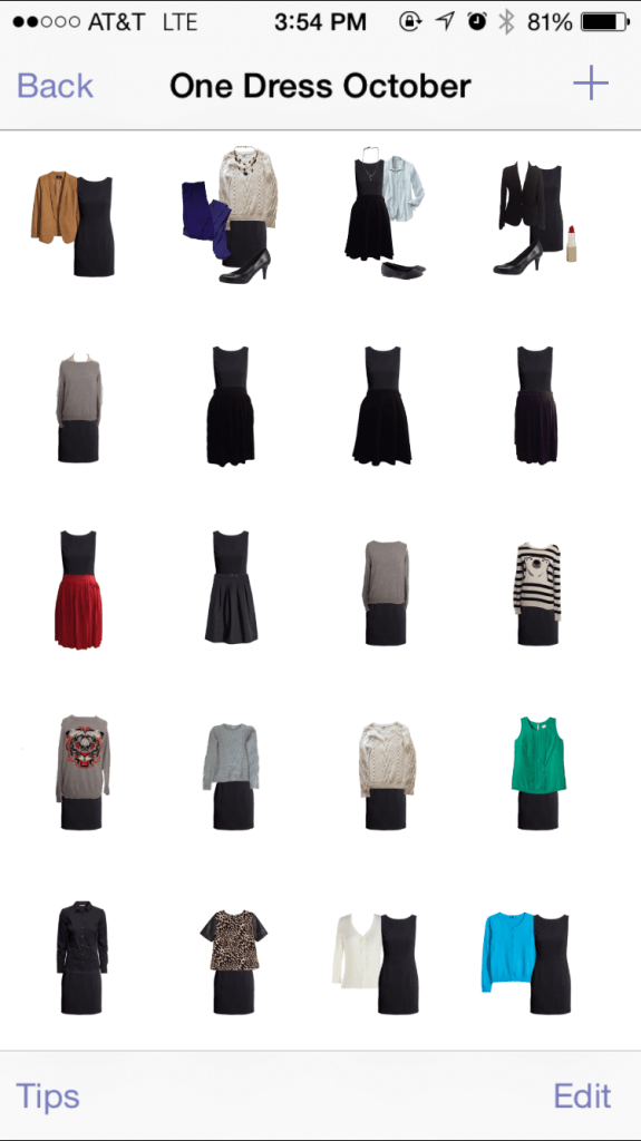 Created a One Dress October category in Stylebook to store outfit ideas!