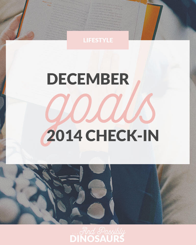 December 2014 Goals Check-In