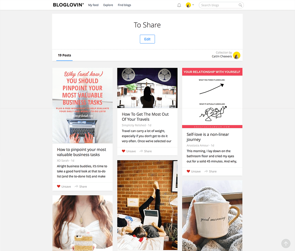 If you're interested in blogging, whether you write your own or just love reading them, you've probably heard of Bloglovin'. But did you know that you can use Bloglovin' to organize your blog life? Click through to find out how!