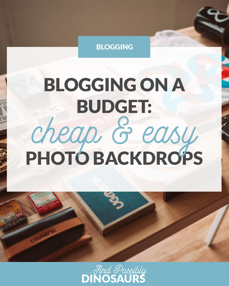 Blogging on a Budget: Cheap & Easy Photo Backdrops
