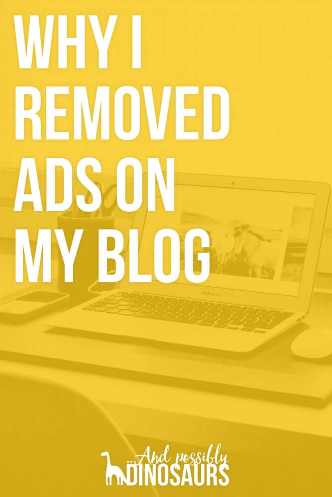 Why I Removed Ads on My Blog