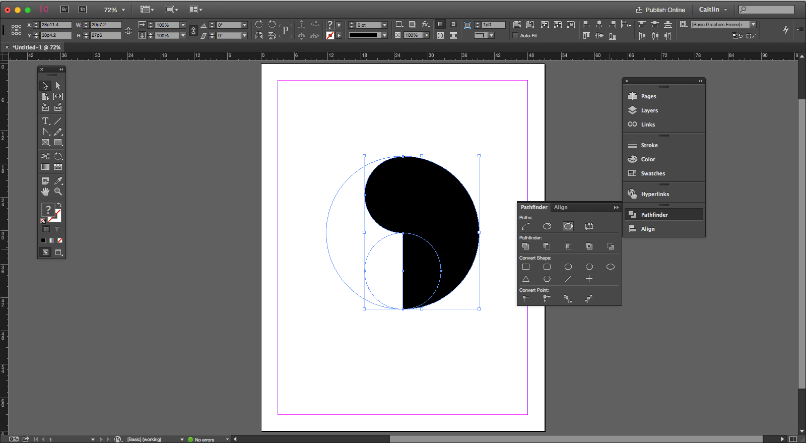 No matter how long you've been using a program, you can always learn new shortcuts. Pathfinder in InDesign saves a ton designing time — even after years of experience! Click through to see how.