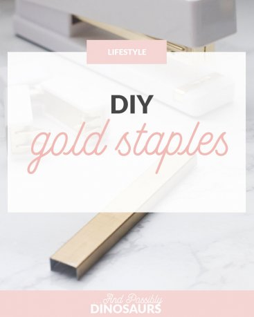 DIY Gold Staples