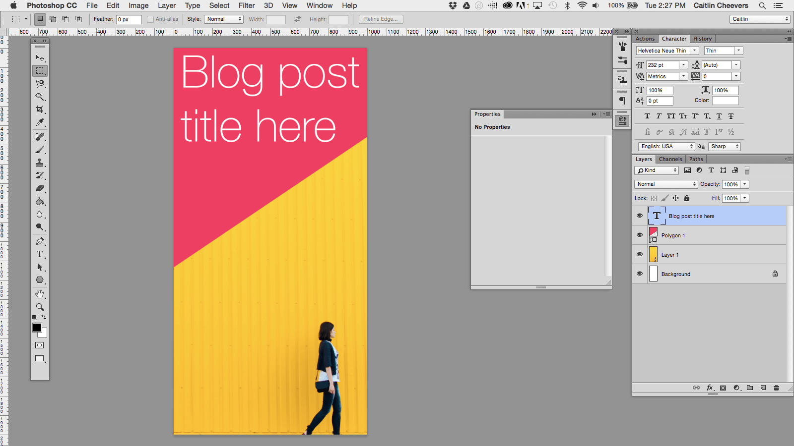 How to Create a Blog Post Header Template in Photoshop – And ...