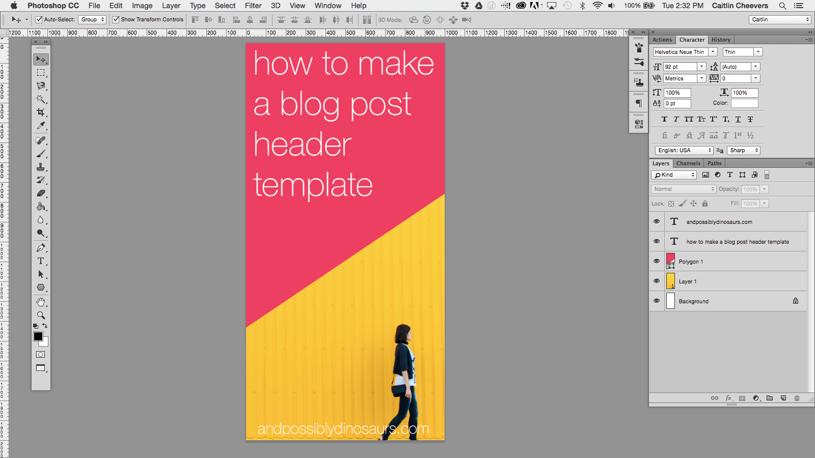 Don't spend hours making sure all of the font sizing, placement, and settings are the same in every single image. Blog post header images only take me a few minutes at most. How? Easy: create a blog post header image template in Photoshop! Click through to find out how!