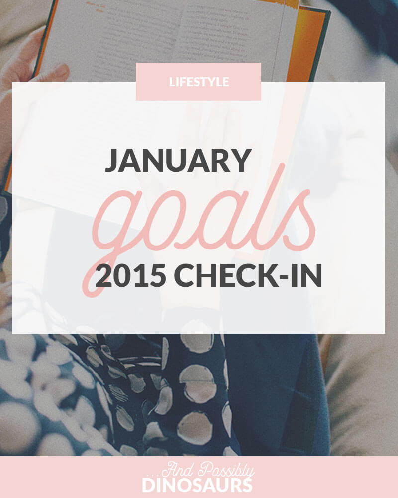 January 2015 Goals: Check-In