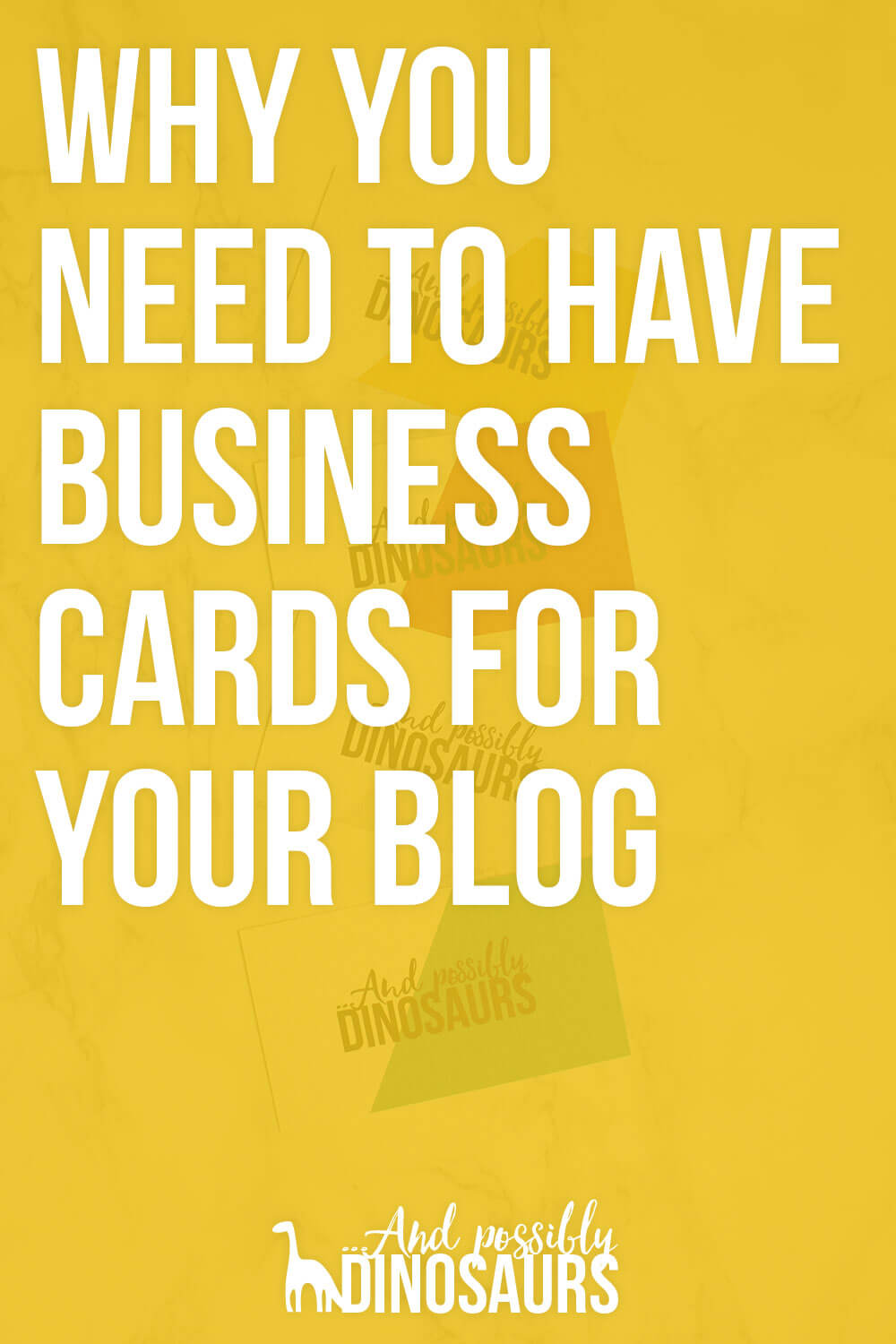 Why You Need to Have Business Cards for Your Blog - And ...