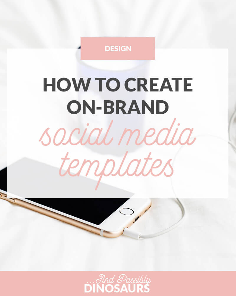 How do you make sure all your blog graphics on on-brand when different social media sites require different things? Templates! Click through to find how to make social media templates for your blog!