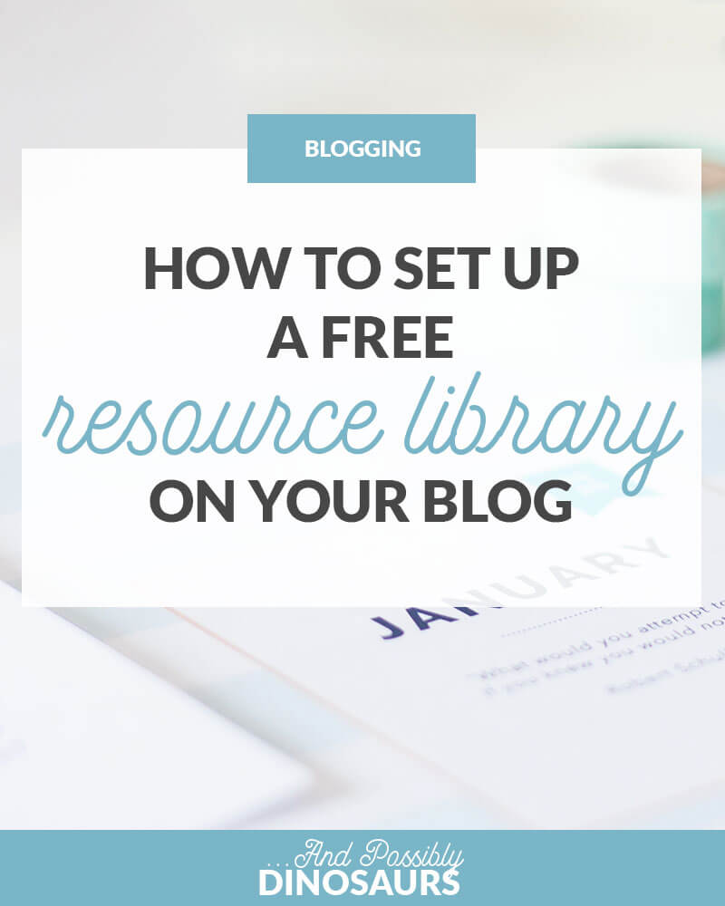 Want to create a free resource library for your readers? Not sure how? Well, it's super easy to do! Click through for a step-by guide for how to set up a resource library for your blog.