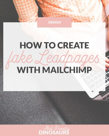 Love Leadpages, but hate the cost? Good news! I've teamed up with Marianne of Design Your Own (Lovely) Blog to find out how to get fake Leadpages for Mailchimp for only $21 total! Much better than $25/mo, amirite? Click through for the tutorial and a FREE worksheet to get your popup looking just like Leadpages!