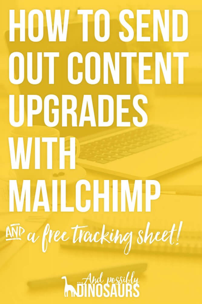 If you want to grow your email list, content upgrades are a must. But do you really need expensive tools like Leadpages and ConvertKit to send them via email? No! Check out my tutorial on how to send out content upgrades with Mailchimp. (Good news: It's only $9/mo!)