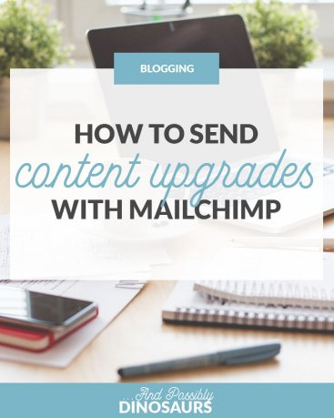 If you want to grow your email list, content upgrades are a must. But do you really need expensive tools like Leadpages and ConvertKit to send them via email? No! Check out my tutorial on how to send content upgrades with Mailchimp. (Good news: It's only $9/mo!)