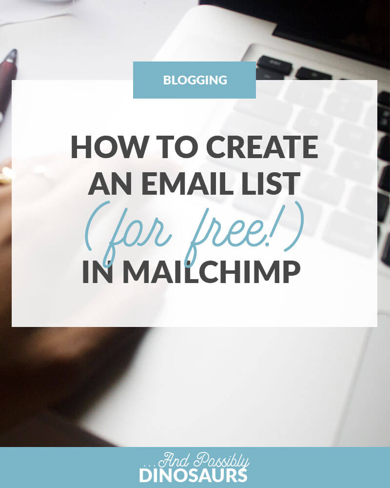 You've heard you need to create an email list... but how? Well, good news--it's easy (and free)! Here's how to create an email list in Mailchimp.
