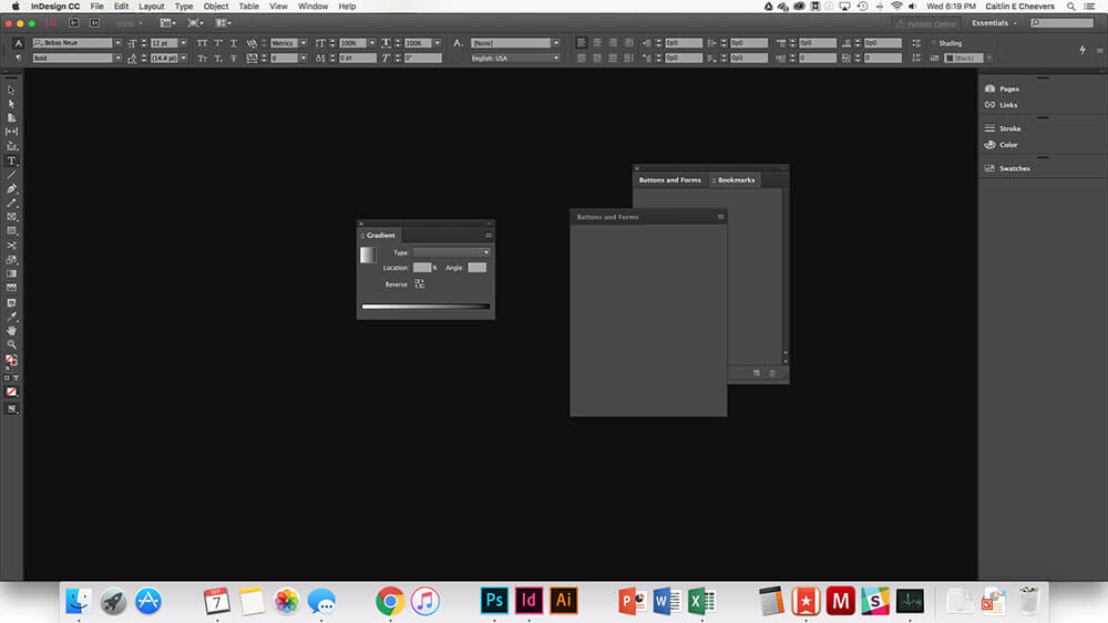 how to stop worksace from opening in indesign