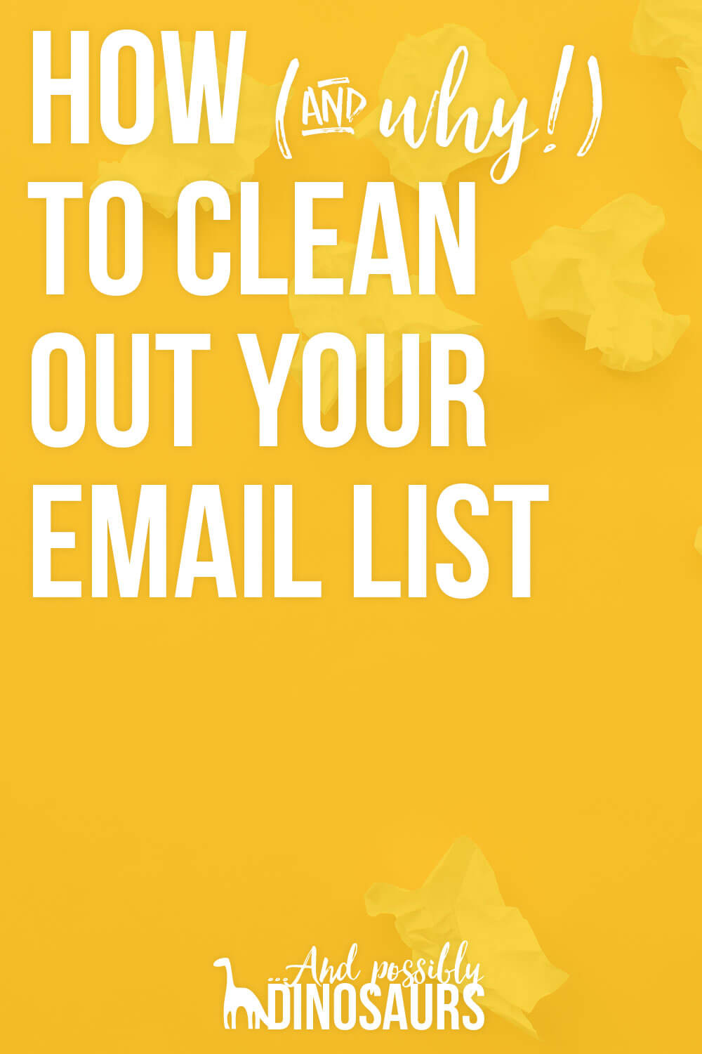 You've worked hard to grow your email list. Now it's time to.... remove people? That's right! It's super important to clean out your email list regularly. Here's why, complete with step-by-step instructions on how to do it in Mailchimp!