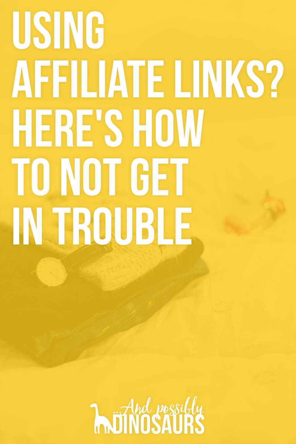 Using affiliate links is an awesome way to make money from your blog. But there are some rules to know before you use them. Here's how to use affiliate links on your blog without getting in trouble!