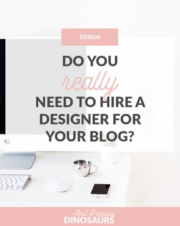It's really beneficial to hire a designer for your blog. But is it necessary? Let's look at all of the options before deciding if you should hire a designer. (Plus, score your FREE ebook template!) Click through for all of the details!