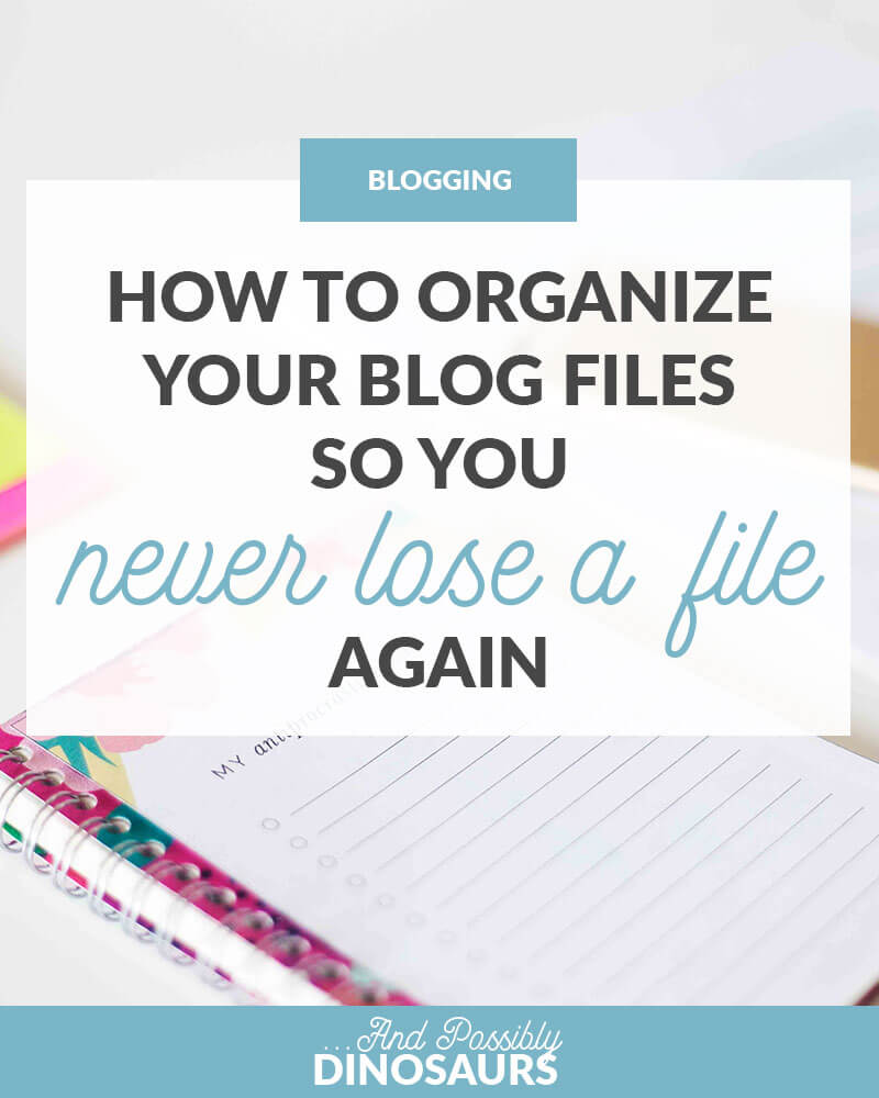 Organization is key to productivity. So, how can we organize your blog files so you never lose a file again? It's actually easy! Click through for the instructions.