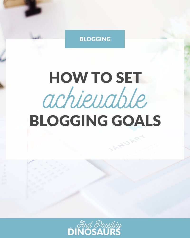 Setting blogging goals is an awesome way to get shit done with your blog. But how do you prevent overwhelm and actually achieve these goals? Here's how to set achievable blogging goals, plus a free worksheet to help you out! Click through for the freebie!