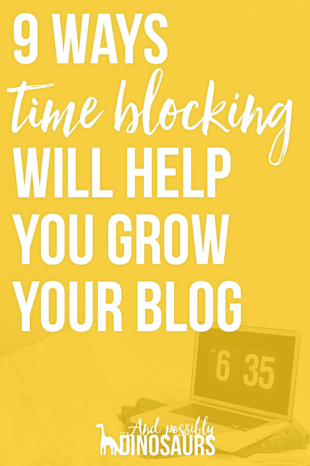 Feel like you're struggling to find the time to run your blog, let alone grow your blog? You're not alone! Here's a key blogging productivity tip for you: block schedule your time! Click through for the 9 ways time blocking will help you grow your blog.