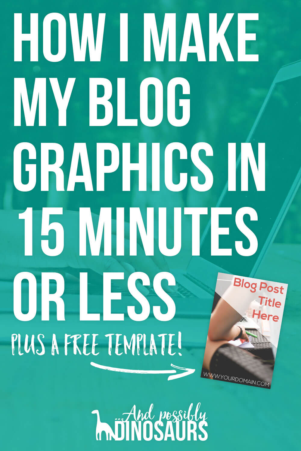When you're a blogger with a full-time job, your time is valuable. So, how can you blog productively? Design productively! Here's how I make my blog graphics in 15 minutes or less so I can get back to the important things in life.