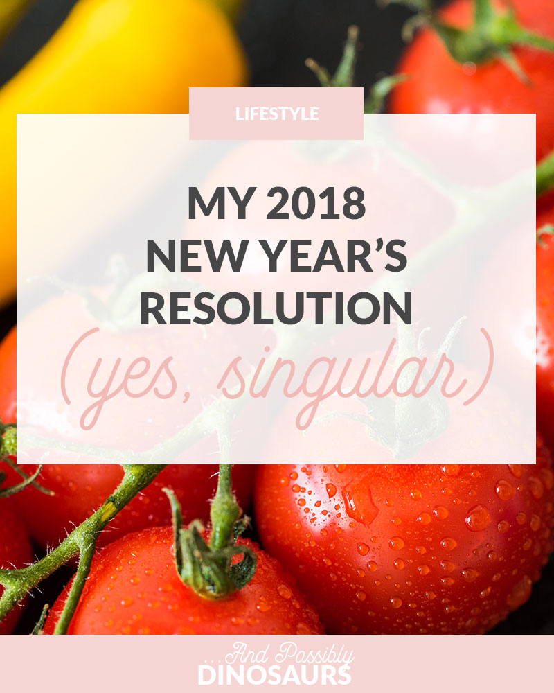 It's so easy to get caught up in the idea that New Years is a time to set a ton of goals for the next 12 months. But what if having more than one resolution is setting us up for failure? Here's my (singular) 2018 New Year's Resolution.