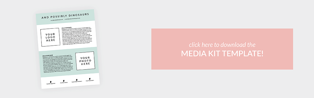 How Why You Need To Create A Media Kit For Your Blog Plus A Free