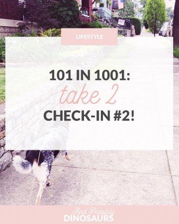 101 in 1001, Take 2: Check-In #2!