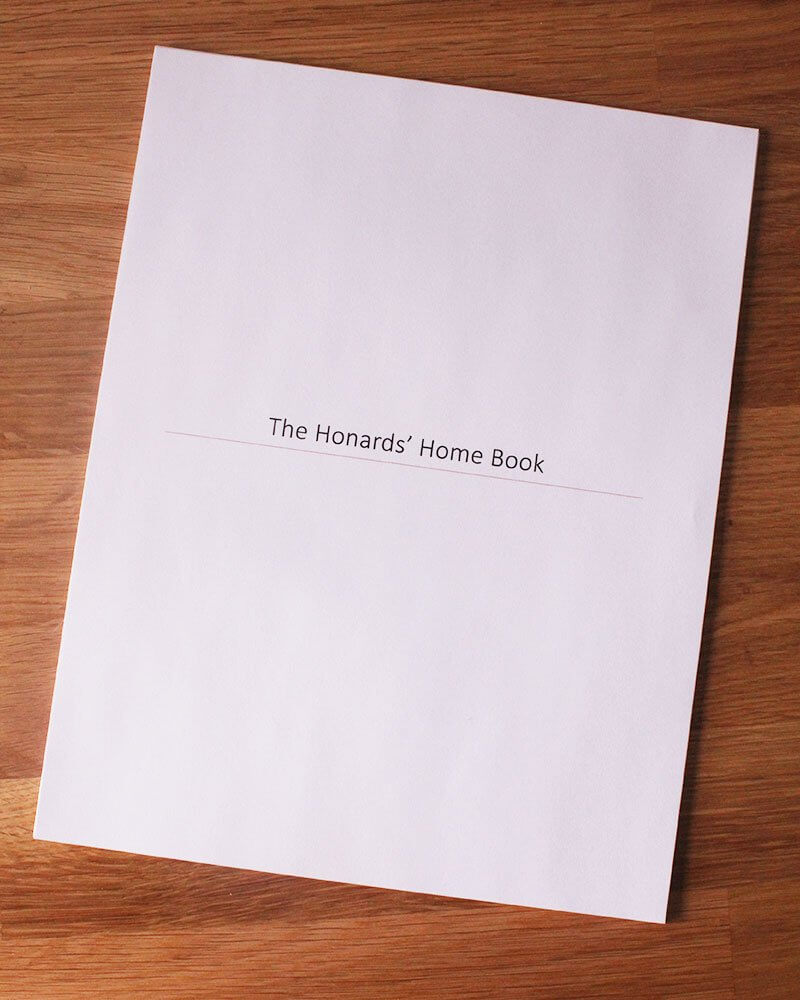 Creating a Home Book with All of Your Essentials
