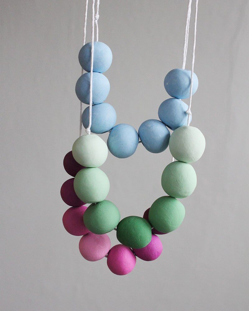 DIY Adjustable Clay Bead Necklace