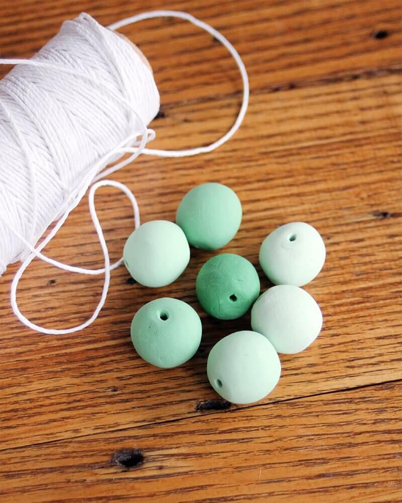 DIY Adjustable Clay Bead Necklace